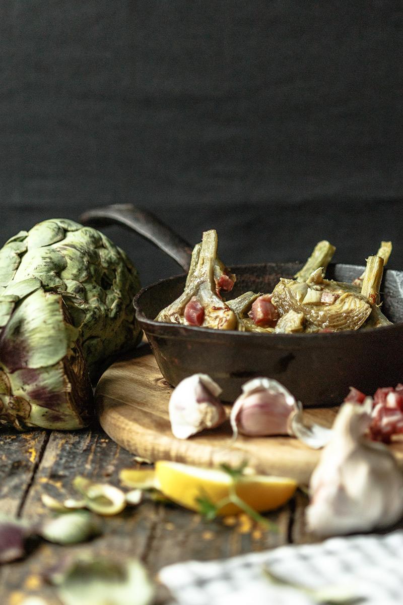 Receta tradicional alcachofas a la montillana