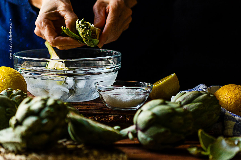 Alcachofas frescas