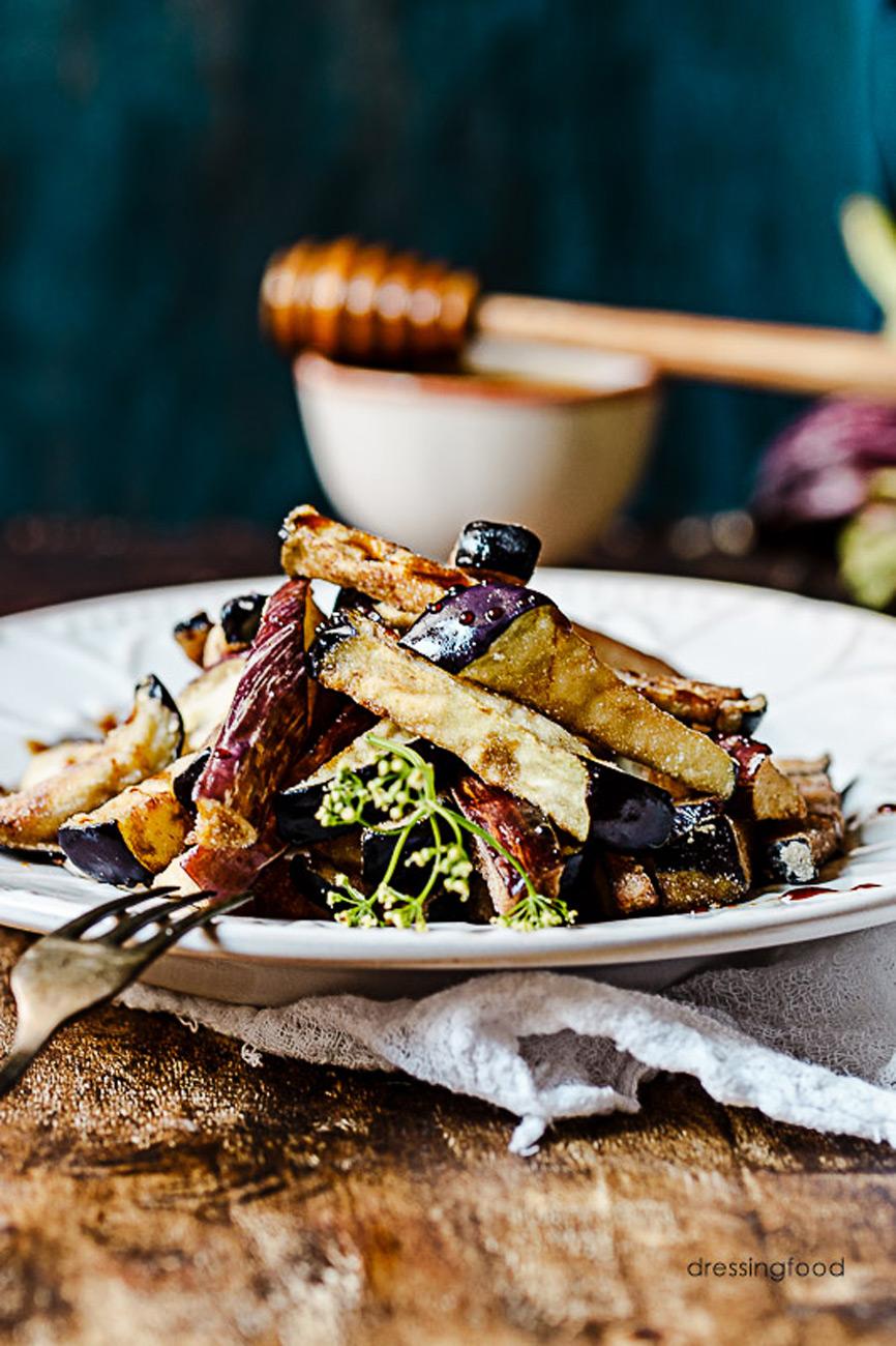 Receta tipica cordobesa berenjenas fritas con miel