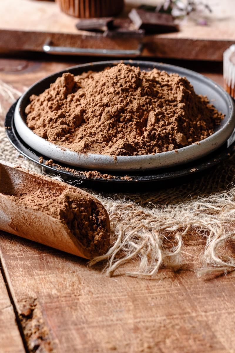 Cacao ideal para magdalenas de chocolate
