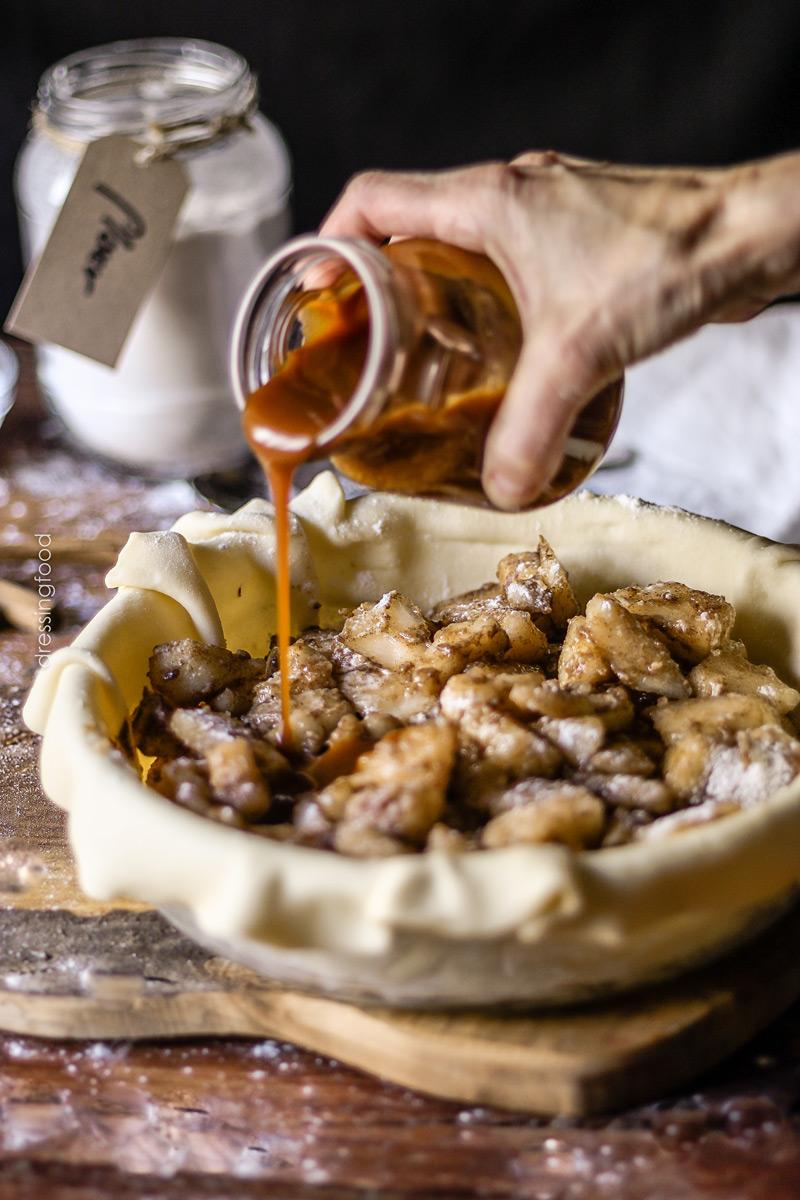 Receta pastel de peras y caramelo salado