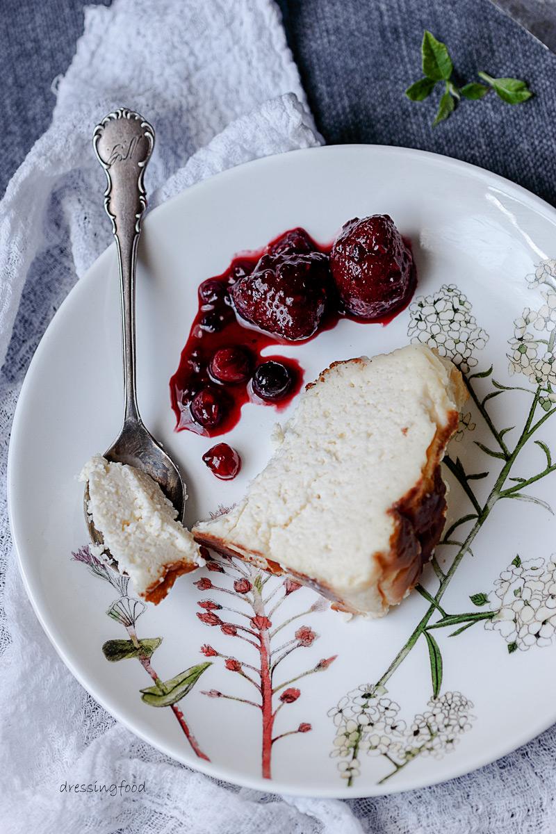 Receta tarta de queso de la Viña