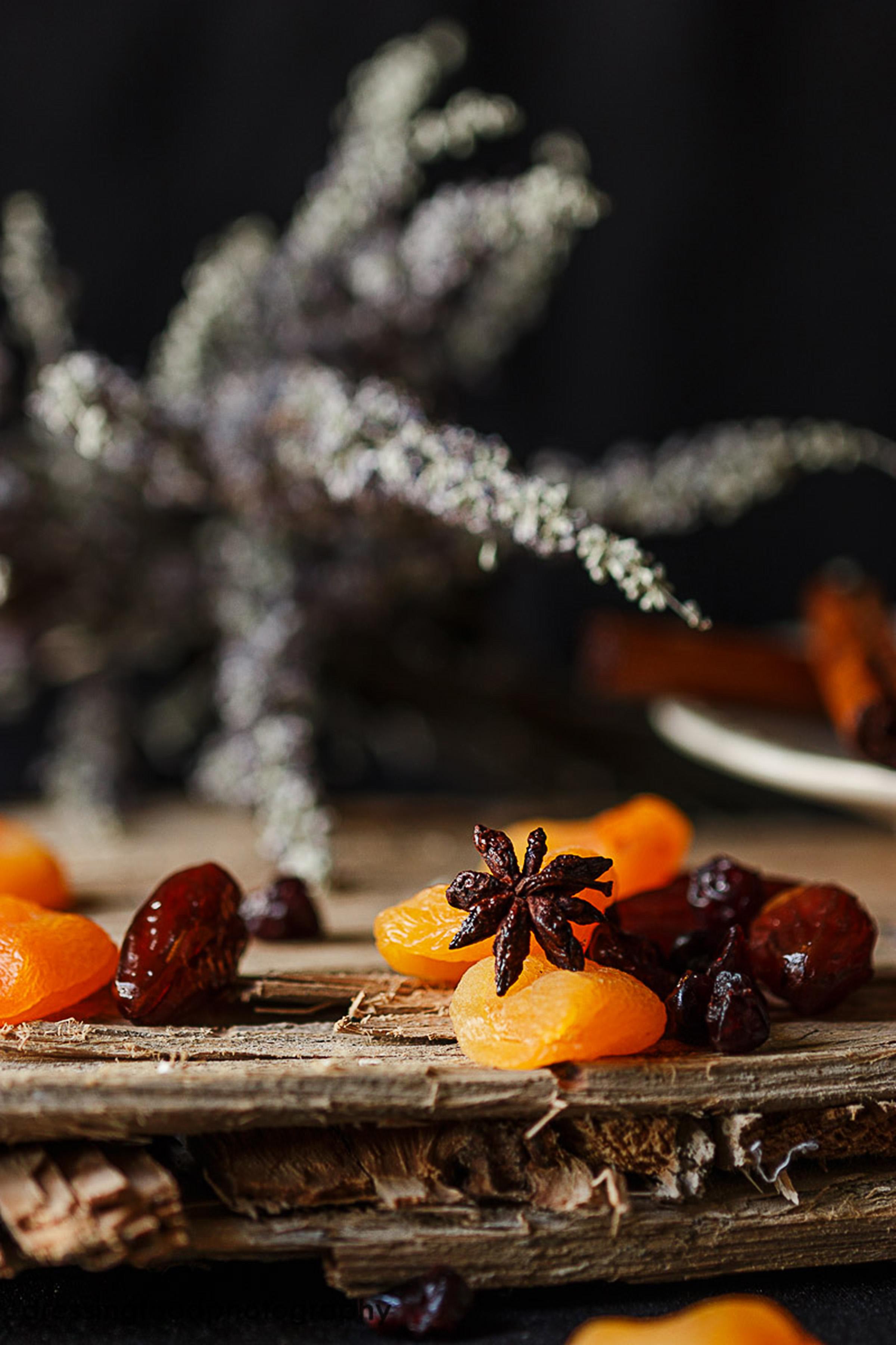 Fruta deshidaratada para compota