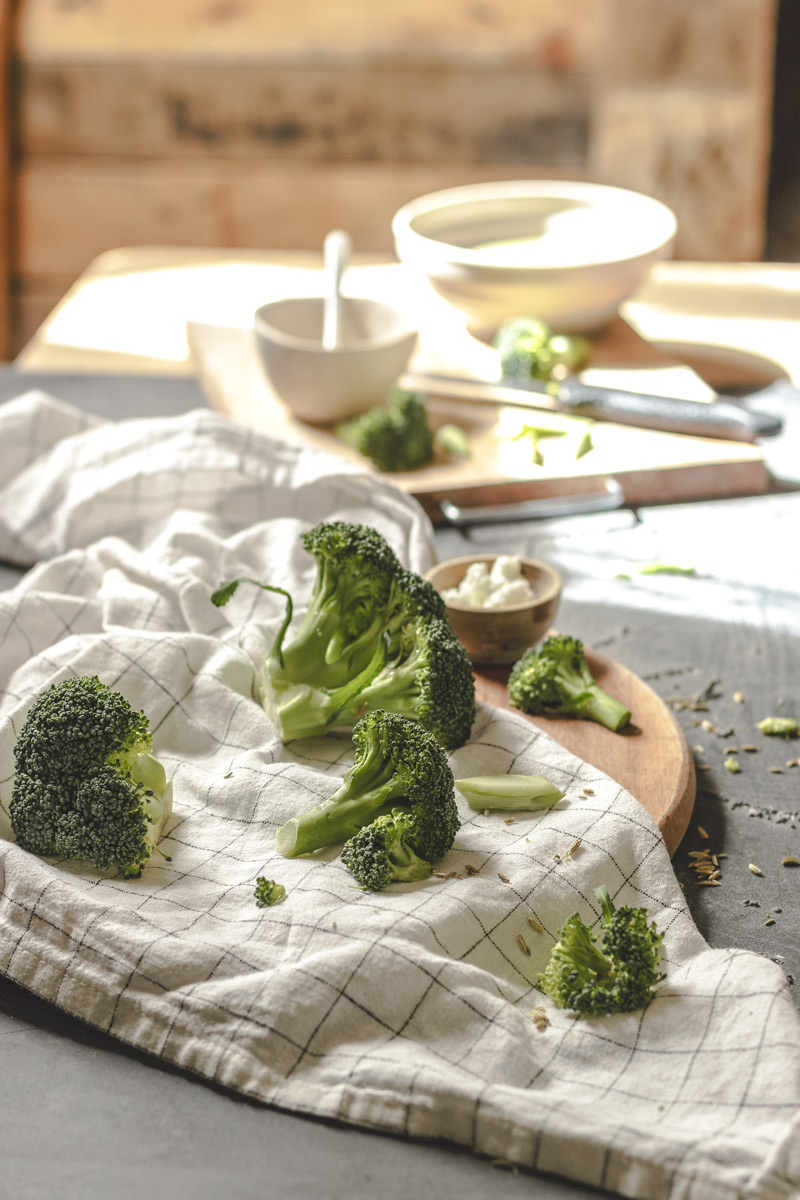 Brócoli para crema casera
