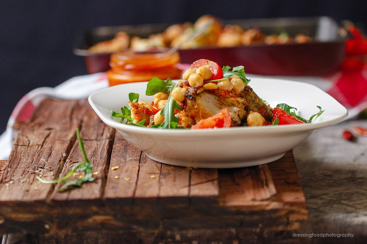Receta de ensalada de legumbre con harissa