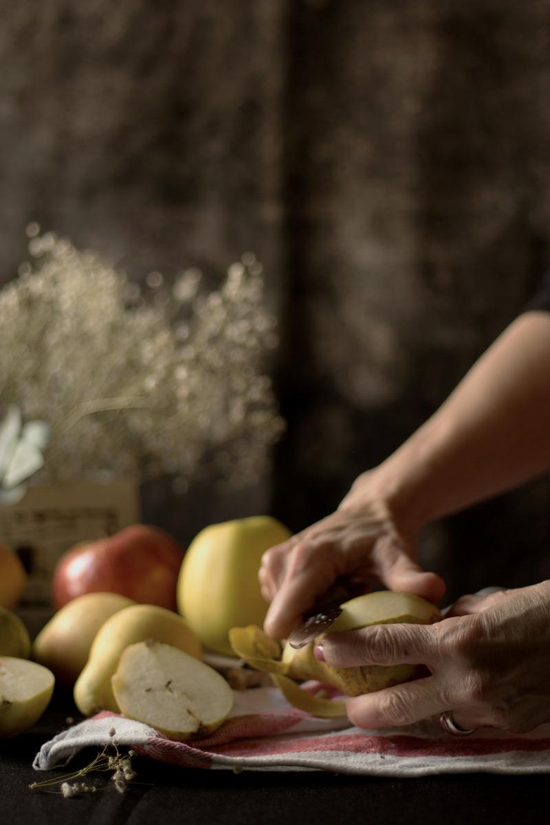 Fruta para compota