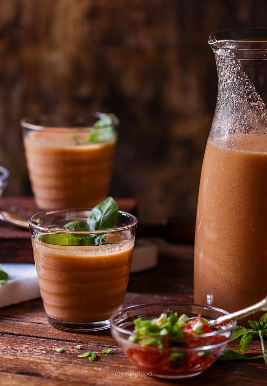 Receta andaluza de gazpacho
