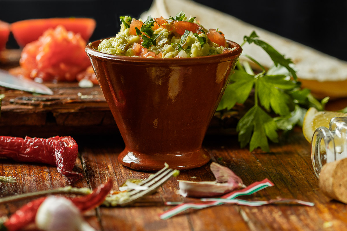 Tradicional guacamole mexicano