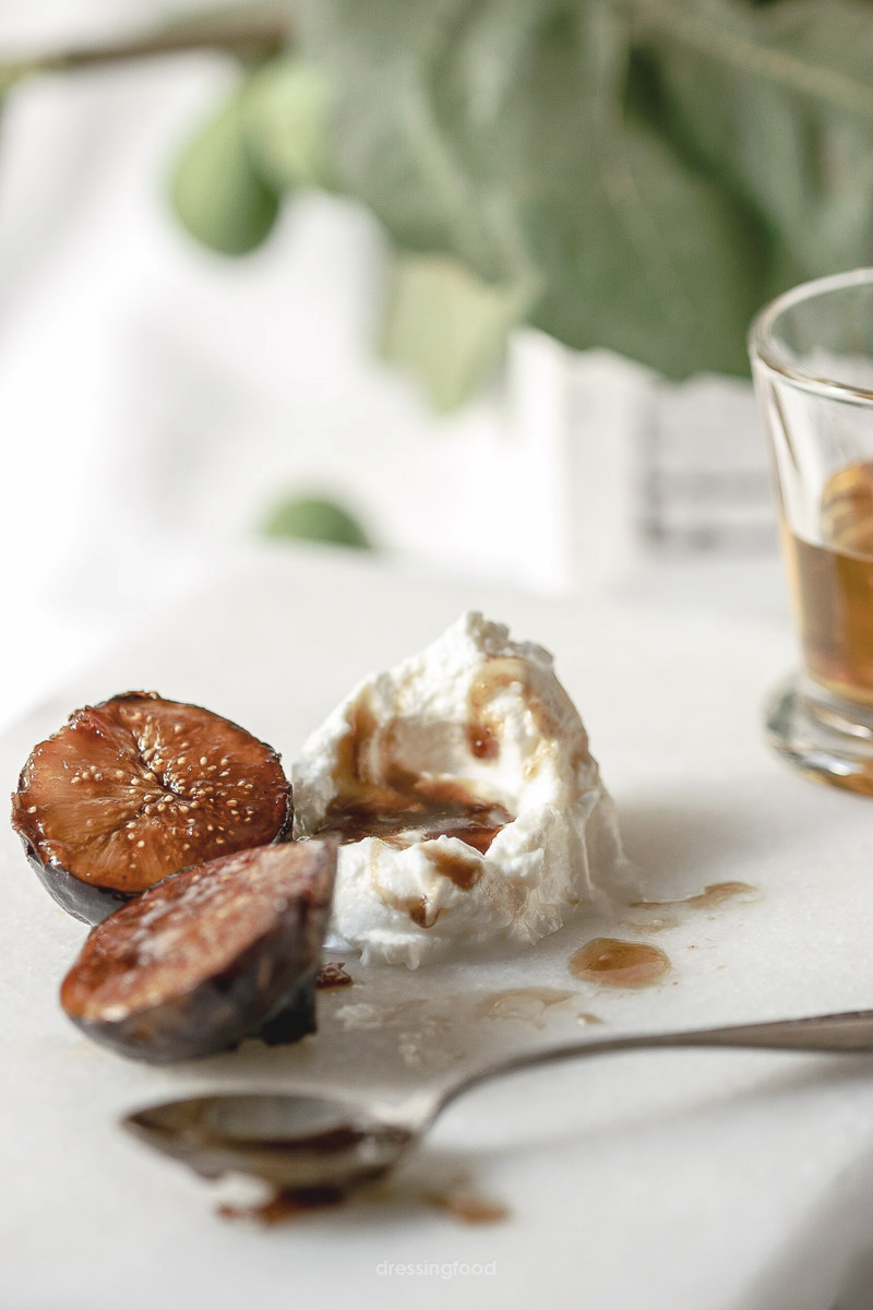 Mascarpone. Ingrediente higos caramelizados