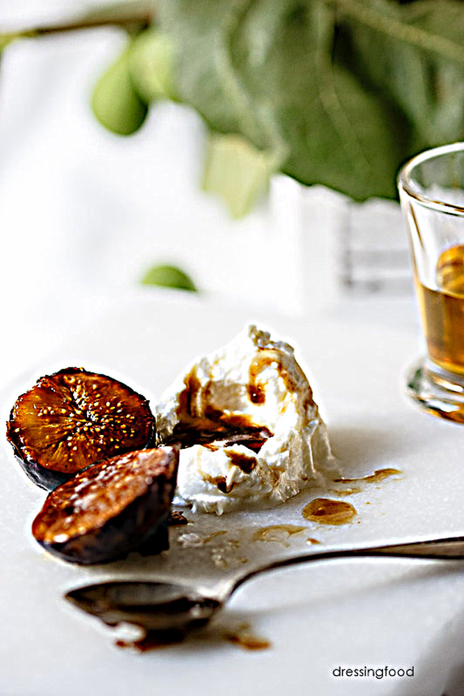 Receta higos caramelizados con mascarpone