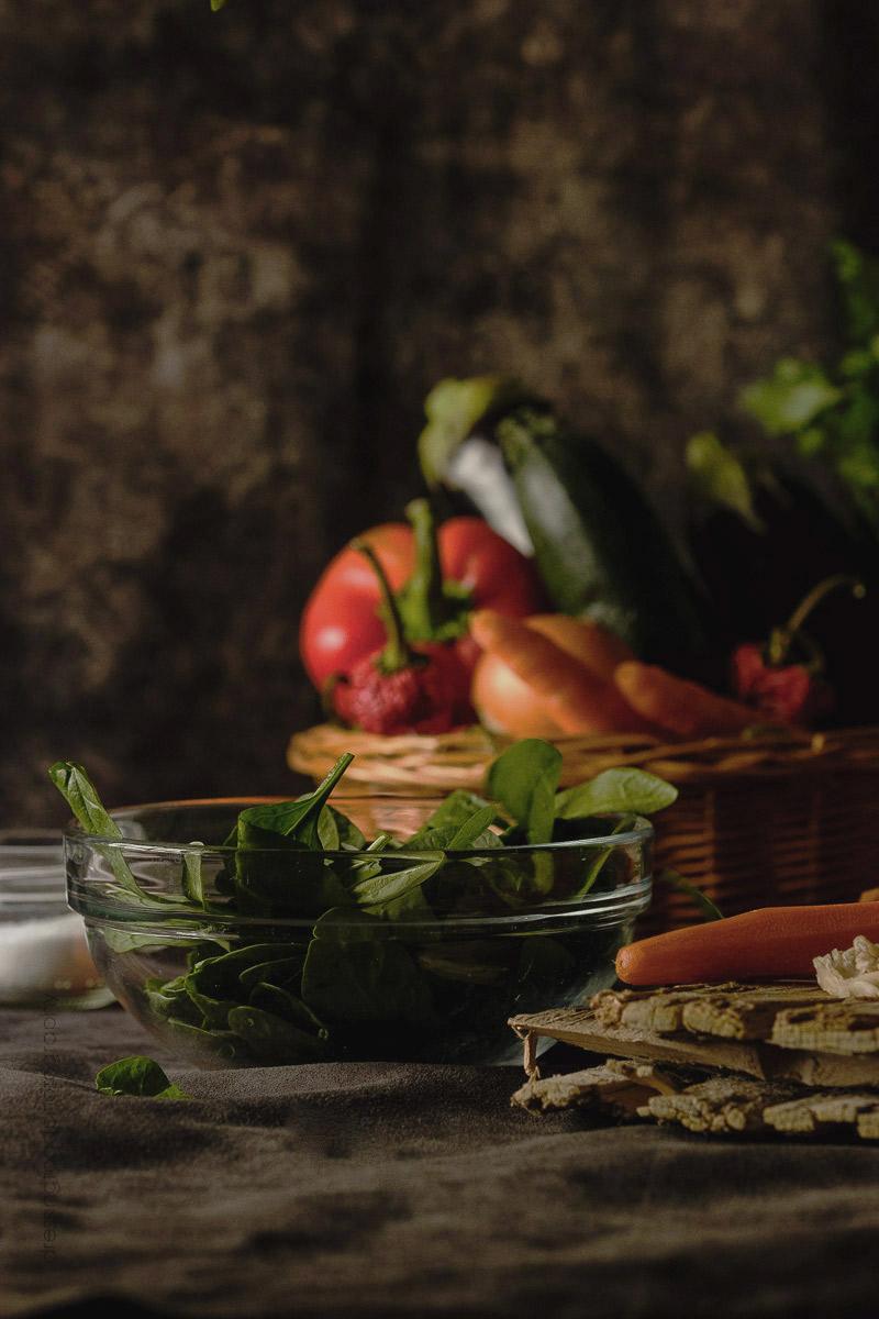 Receta canelones caseros con vegetales