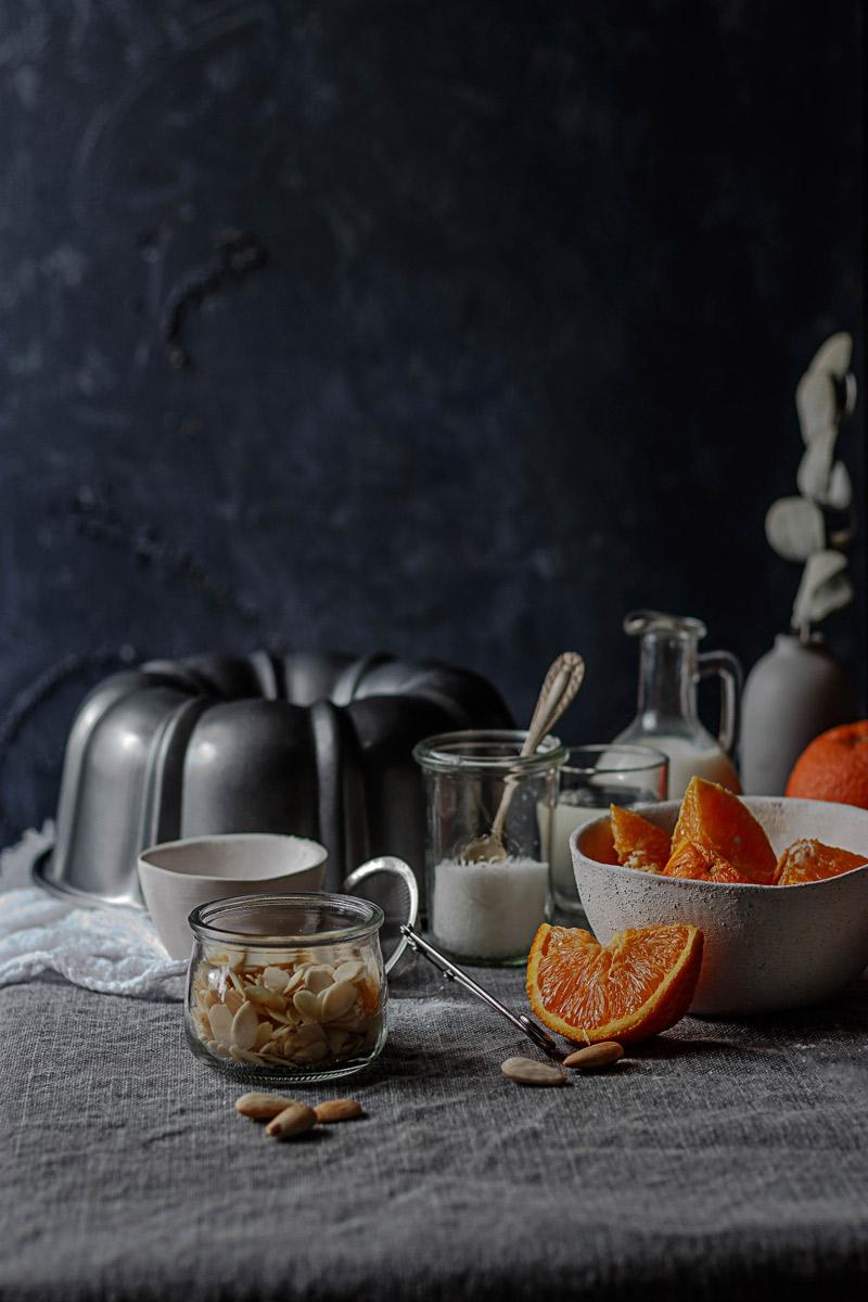 Receta bizcocho naranja y almendra