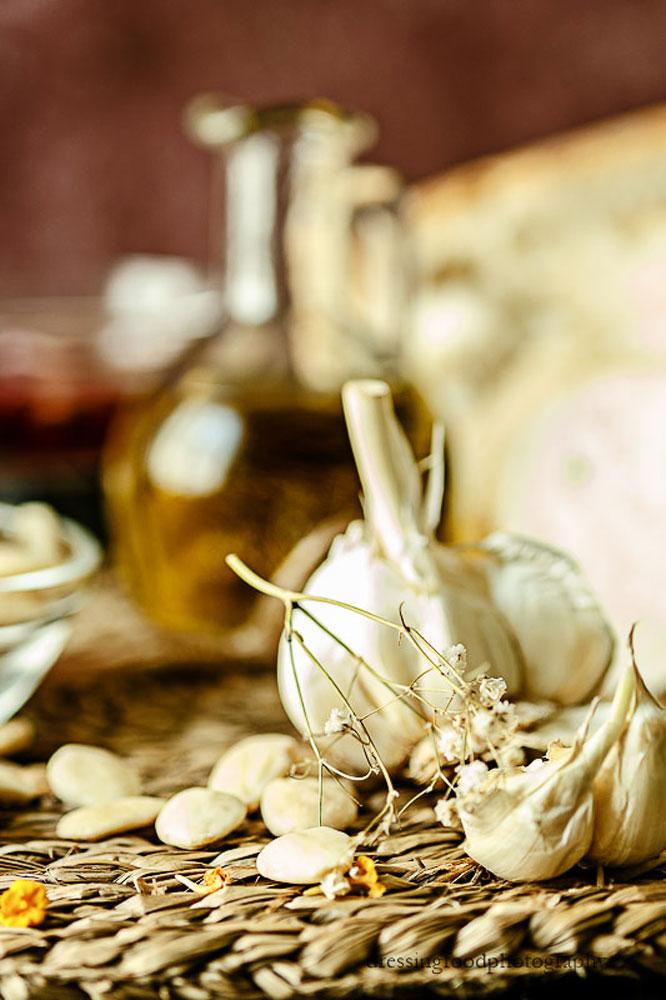 Ajo ingrediente principal en una mazamorra cordobesa