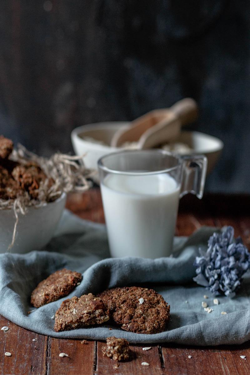 Merienda con galletas avena