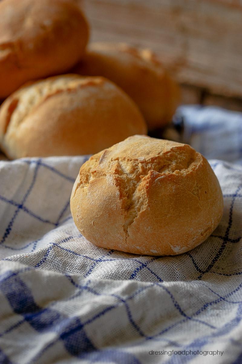 Delicioso pan para hamburguesa casera