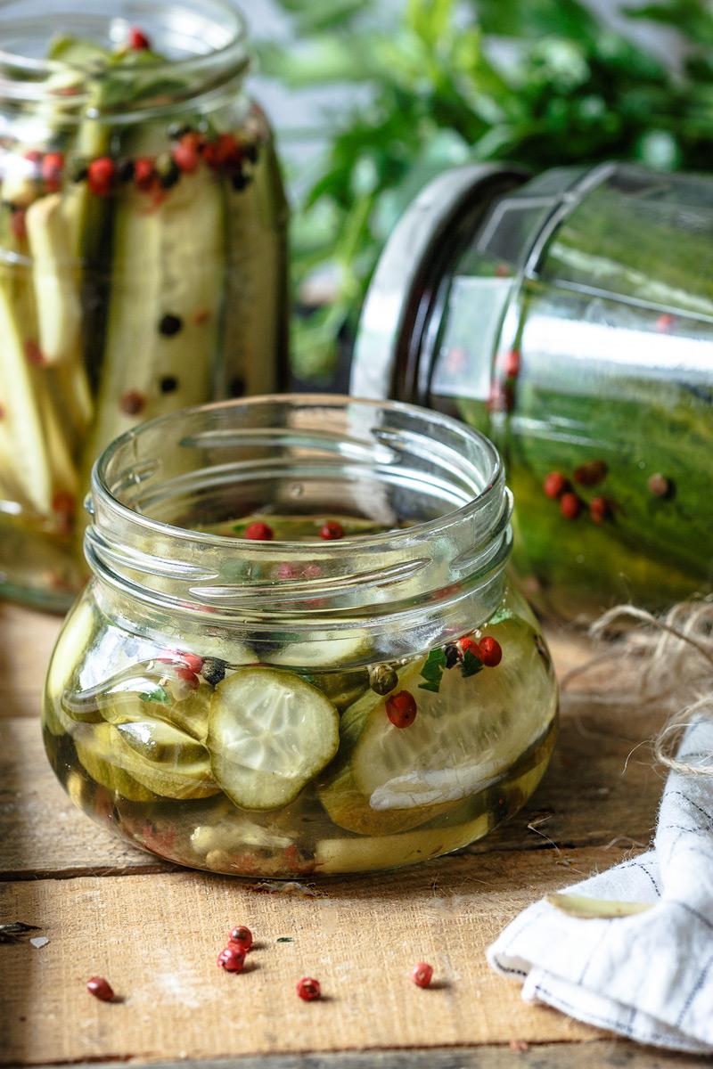 Receta de pepinos en vinagre con especias