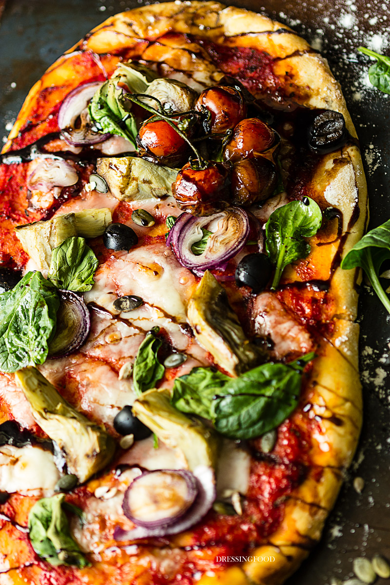 Receta pizza fácil