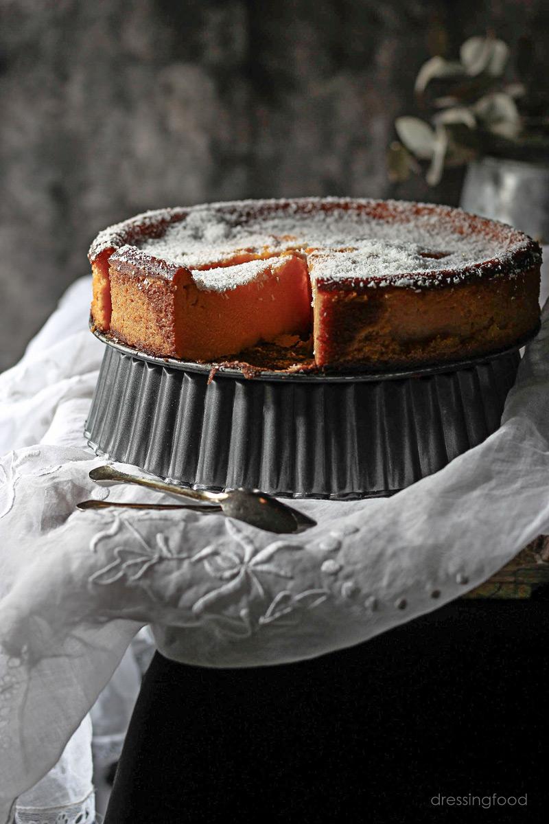 Receta de tarta de calabaza y coco