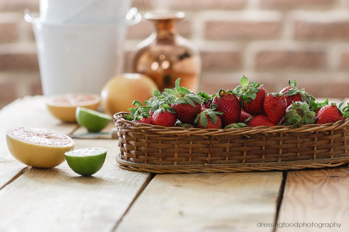Fresas frescas de temporada