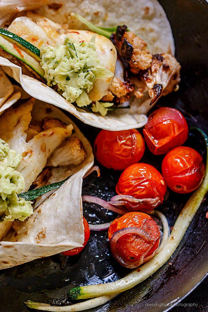 Receta tacos de coliflor asada