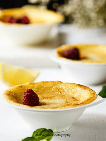 Pudding de limón al horno