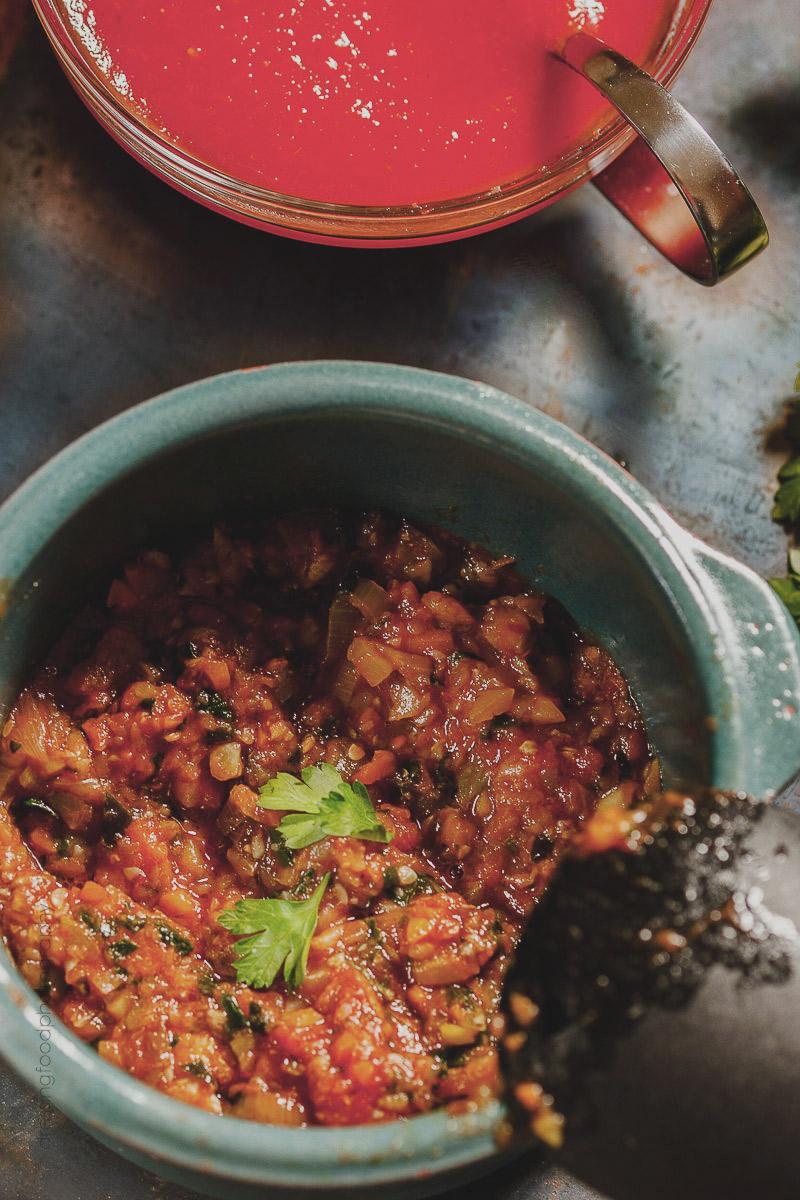 Ingrediente canelones vegetarianos. Relleno