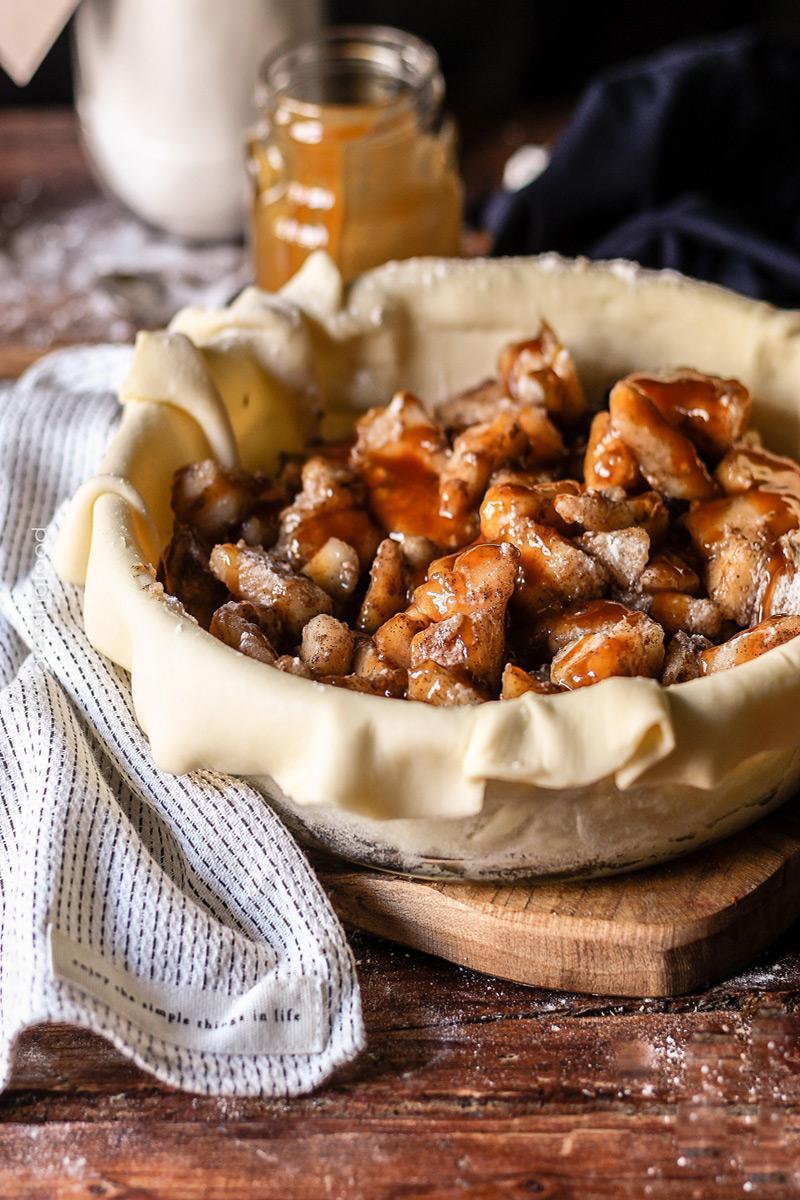 Relleno pastel de peras