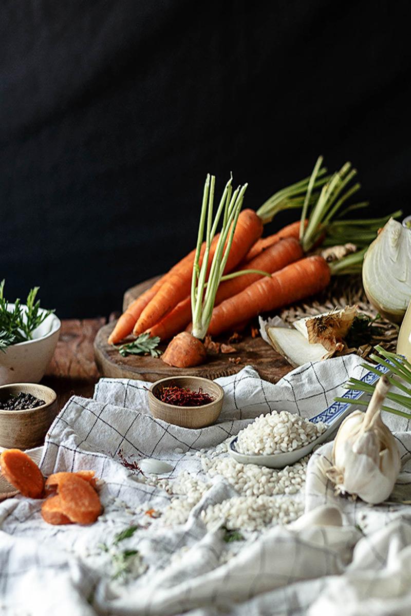 Risotto de verduras; Zanahoria