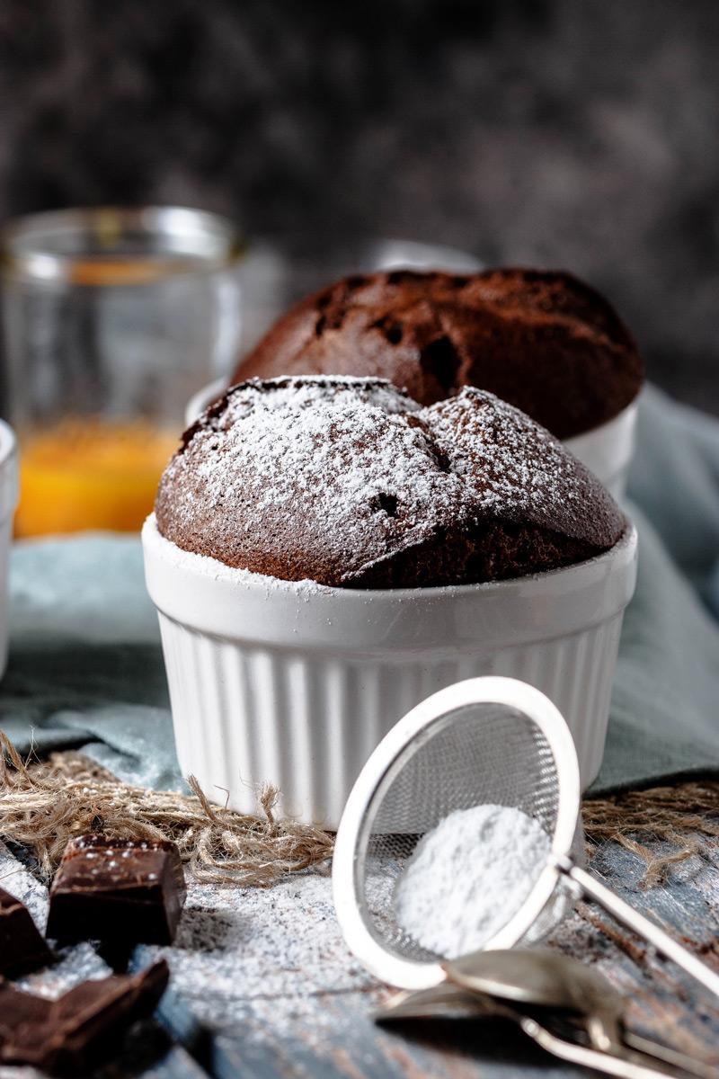 Receta dulce de soufflé de chocolate