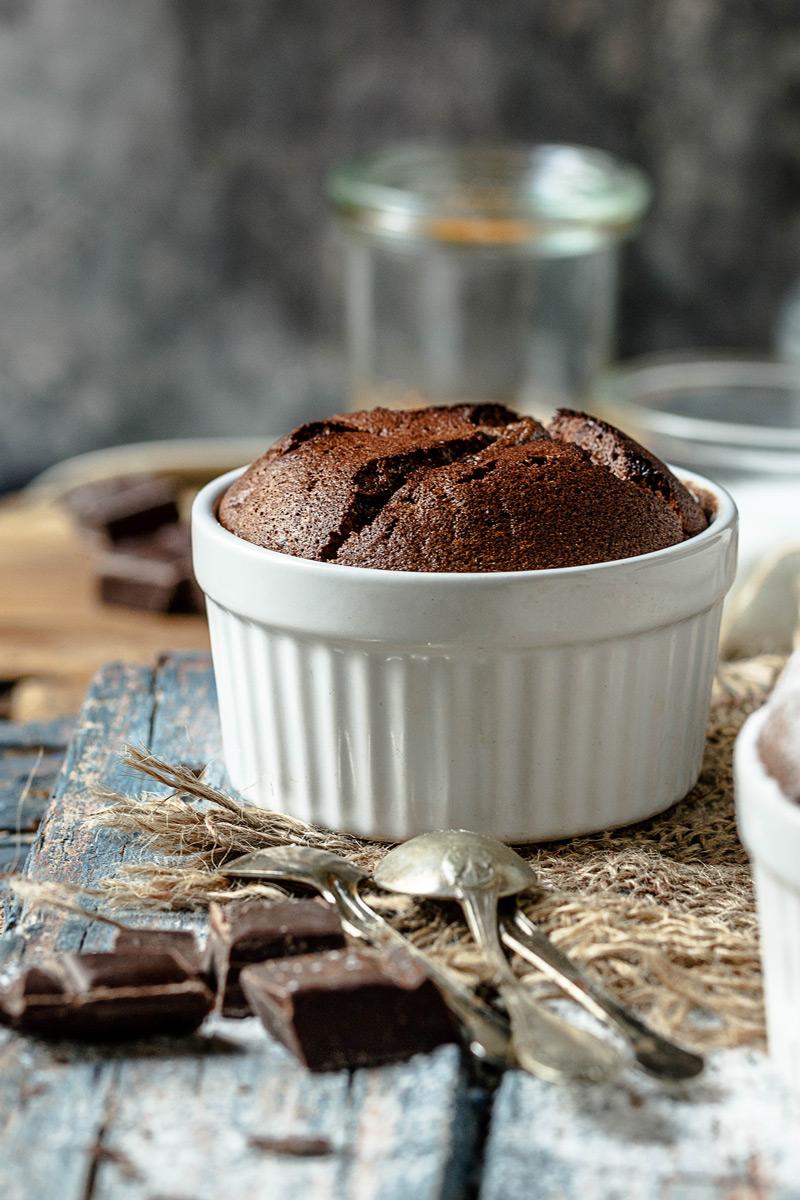 Receta de soufflé de chocolate