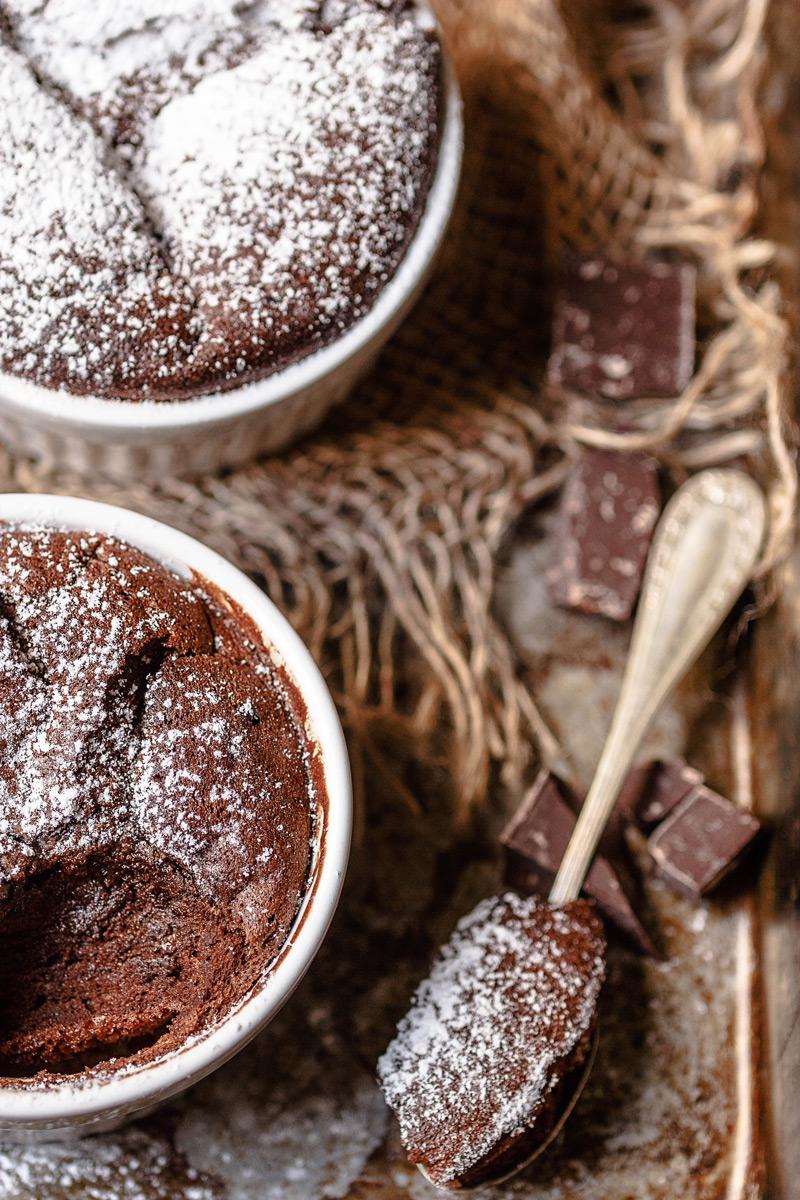Receta fácil de Soufflé de chocolate casero