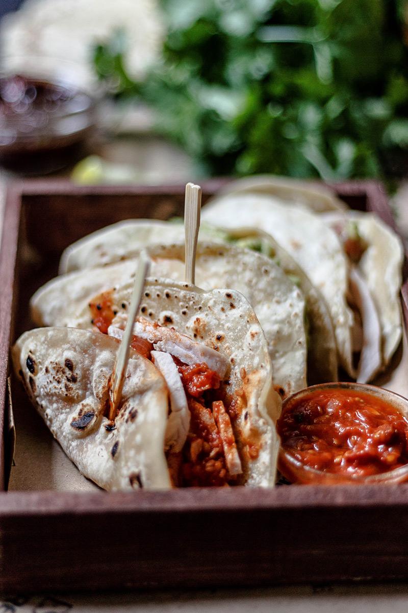 Taco de pollo mexicano