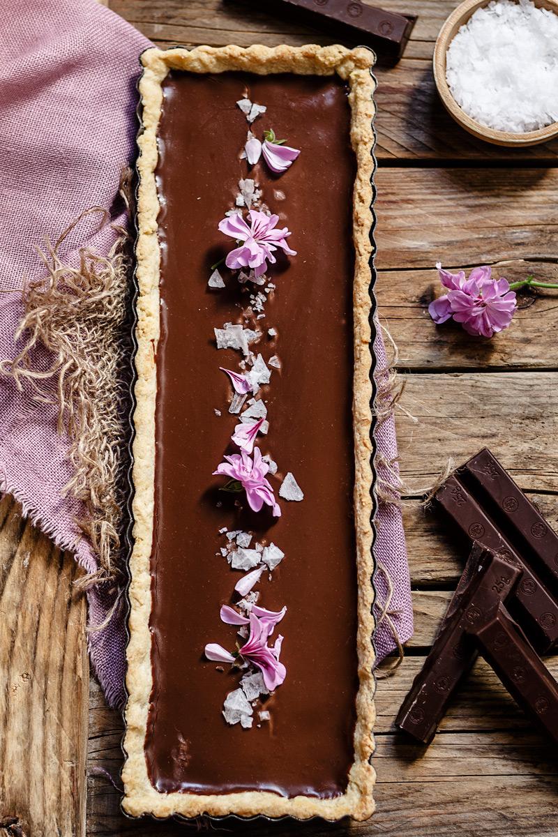 Tarta casera de chocolate a la sal
