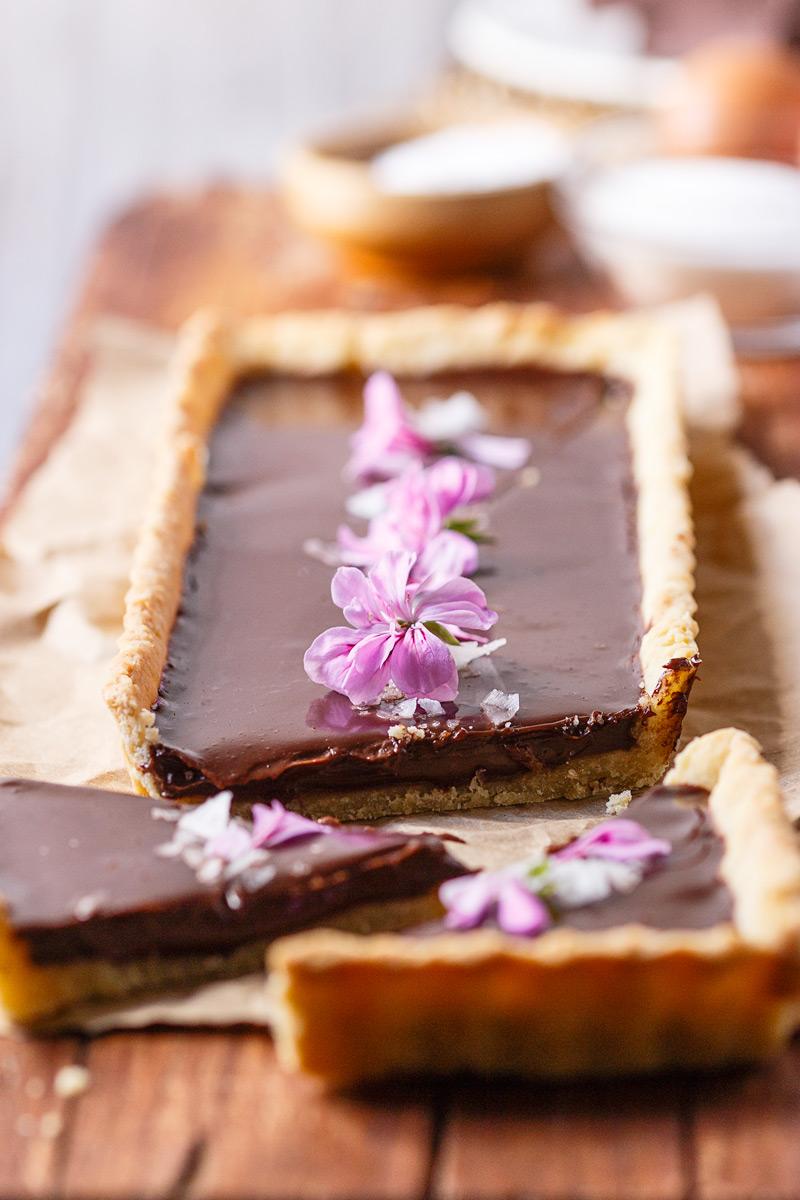 Receta de tarta de ganache de chocolate