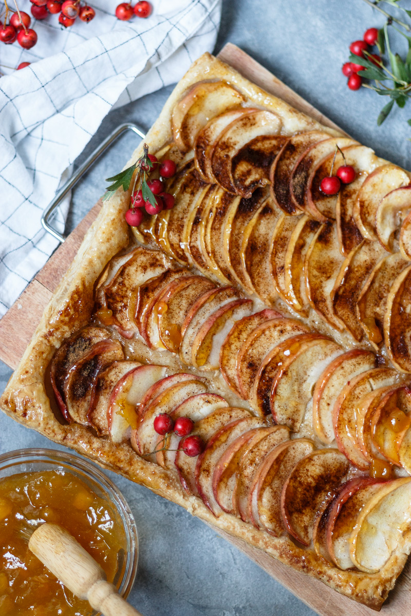 Receta de manzana y hojaldre