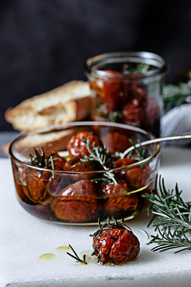 Aceite oliva . Ingrediente Receta cherries confitados