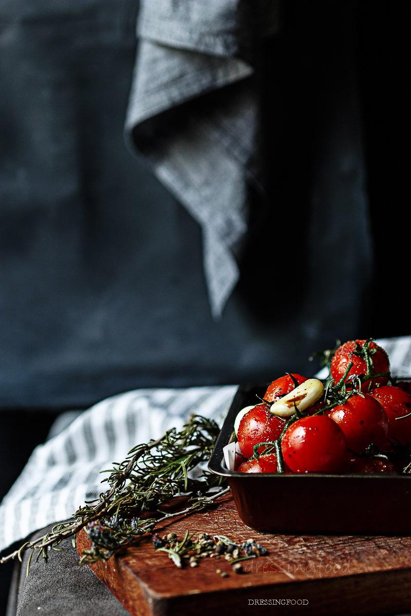 Receta de tomates cherries confitados.
