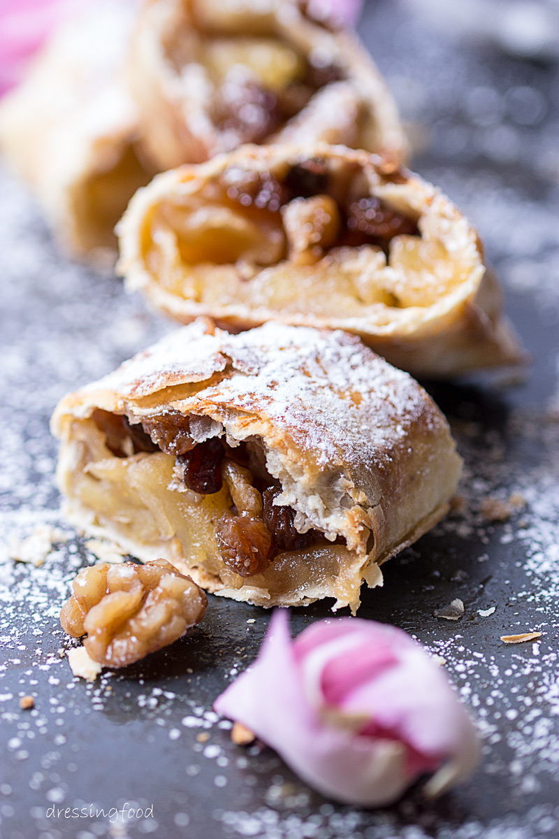 Frutos secos. Ingrediente strudel