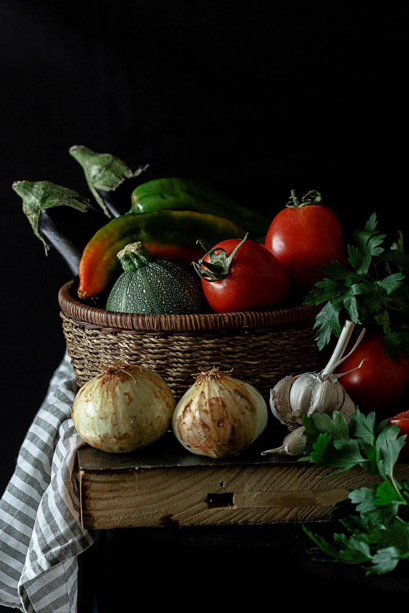 Verdura para pisto andaluz